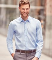 Clayton /& Ford Mens Long Sleeve Contrast Tailored Oxford Shirt