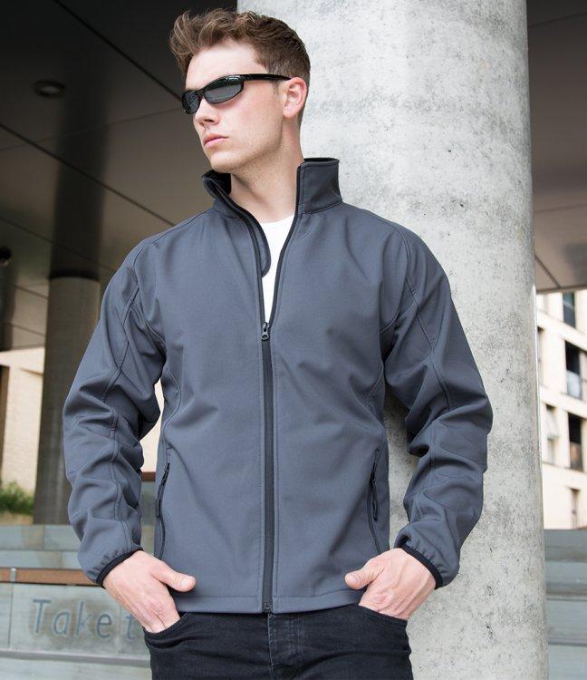 Result Men Softshell Jackets Full Zip Core Printable Menswear Microfleece Jacket